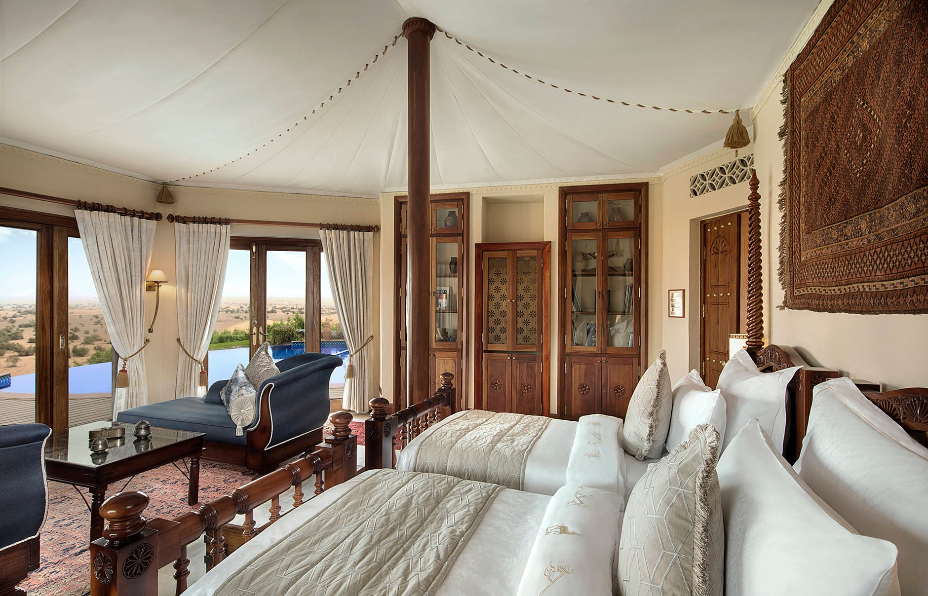 Al Maha, a Luxury Collection Desert Resort & Spa, Dubai, UAE. Review by TravelPlusStyle. Photo © Marriott International