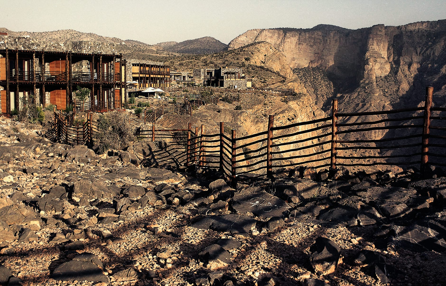 Exterior. Alila Jabal Akhdar, Nizwa, Oman. © Alila Hotels and Resorts