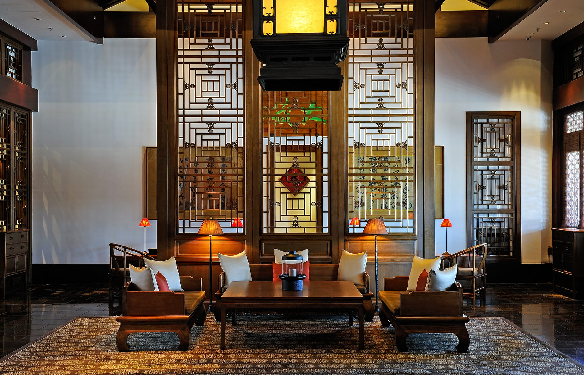 Lobby. Aman at Summer Palace, Beijing, China. © Amanresorts