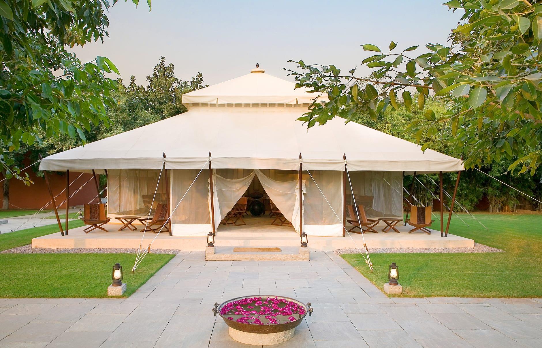 Spa Tent. Aman-i-Khas, Ranthambhore, India. © Amanresorts