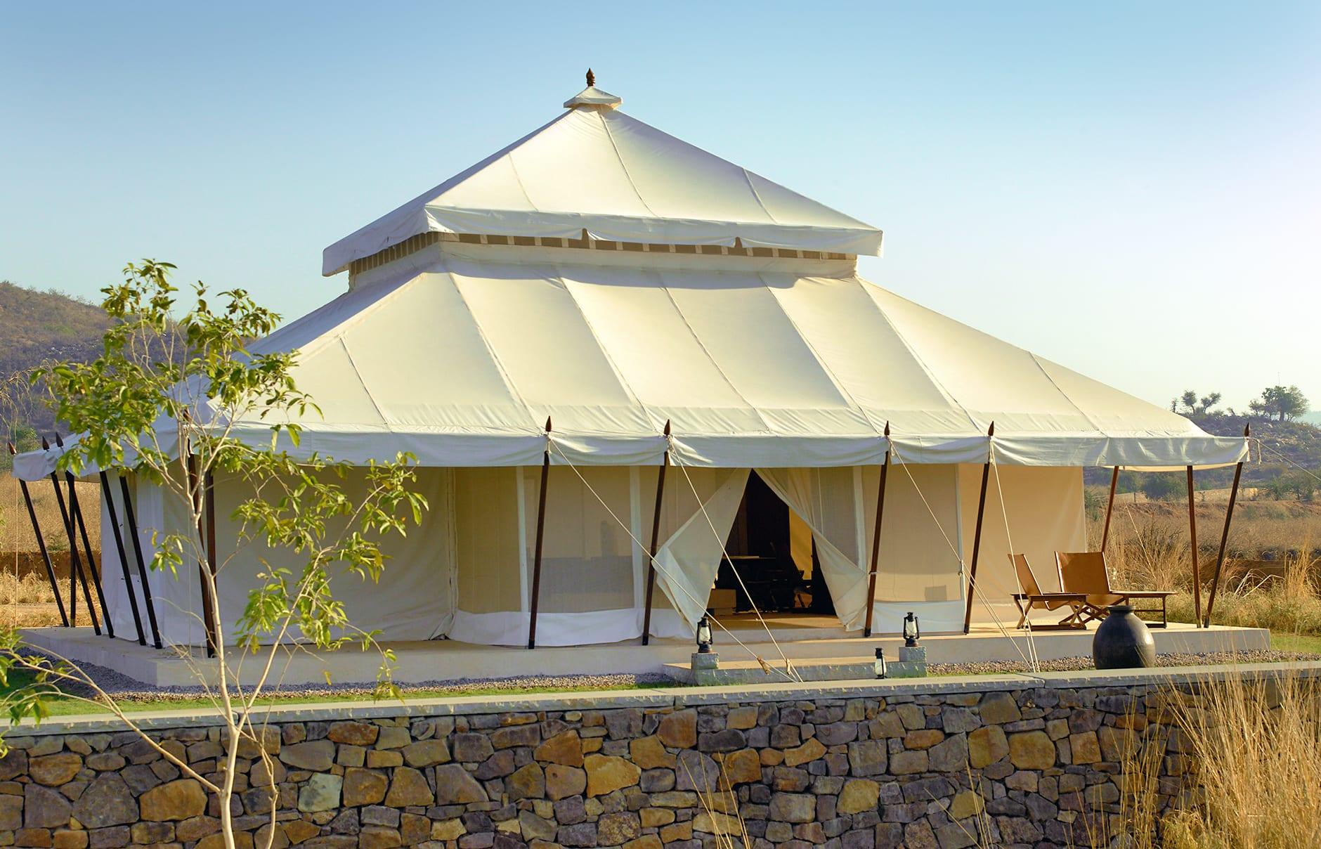 Tent Exterior. Aman-i-Khas, Ranthambhore, India. © Amanresorts