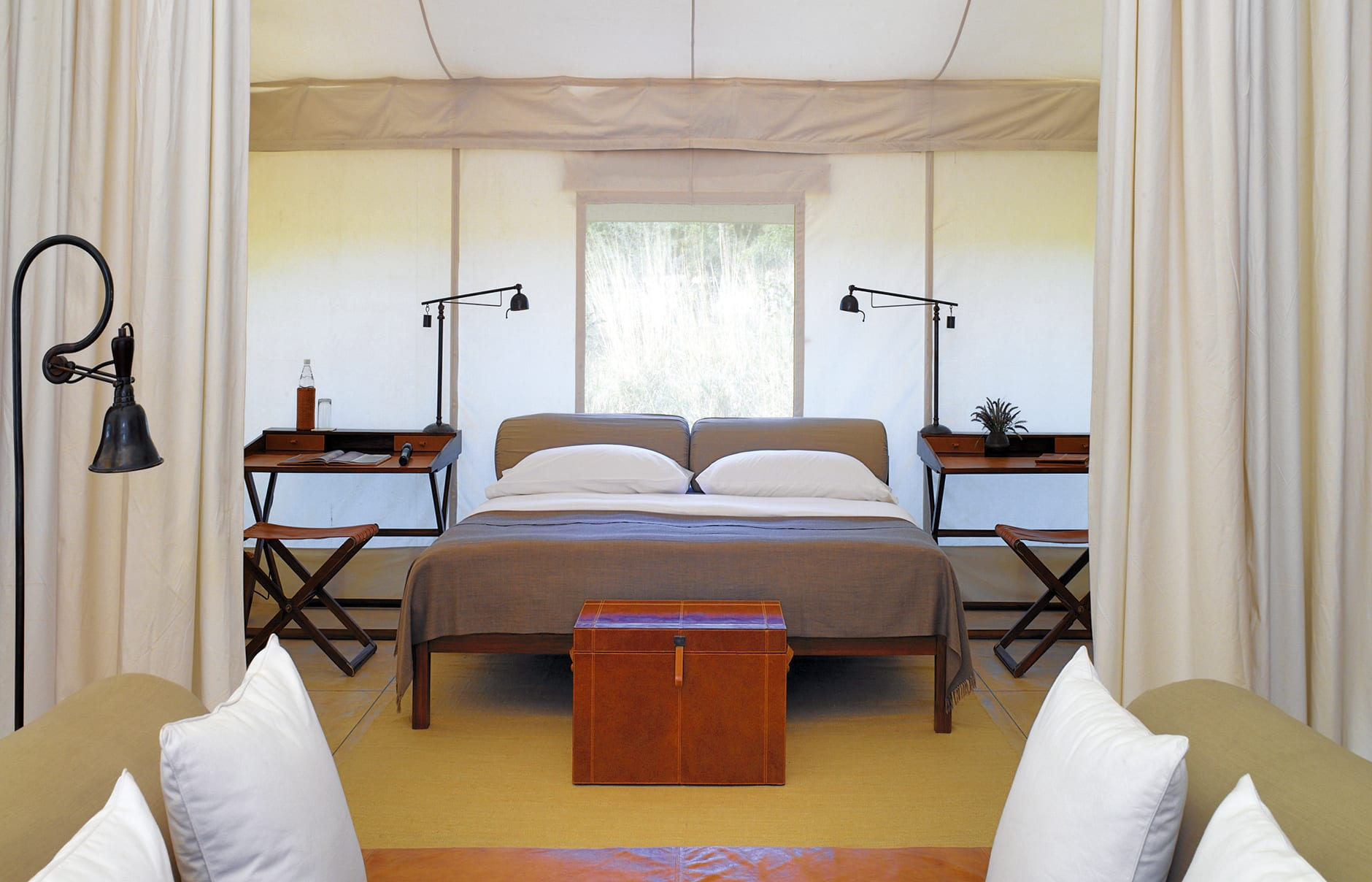 Tent Bedroom. Aman-i-Khas, Ranthambhore, India. © Amanresorts