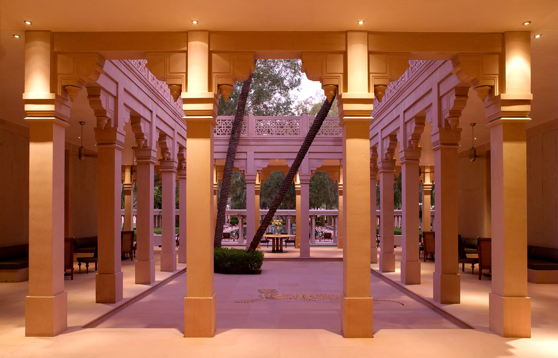 Inner Courtyard. Amanbagh, Alwar, Rajasthan, India. Luxury Hotel Review by TravelPlusStyle. Photo © Aman Resorts