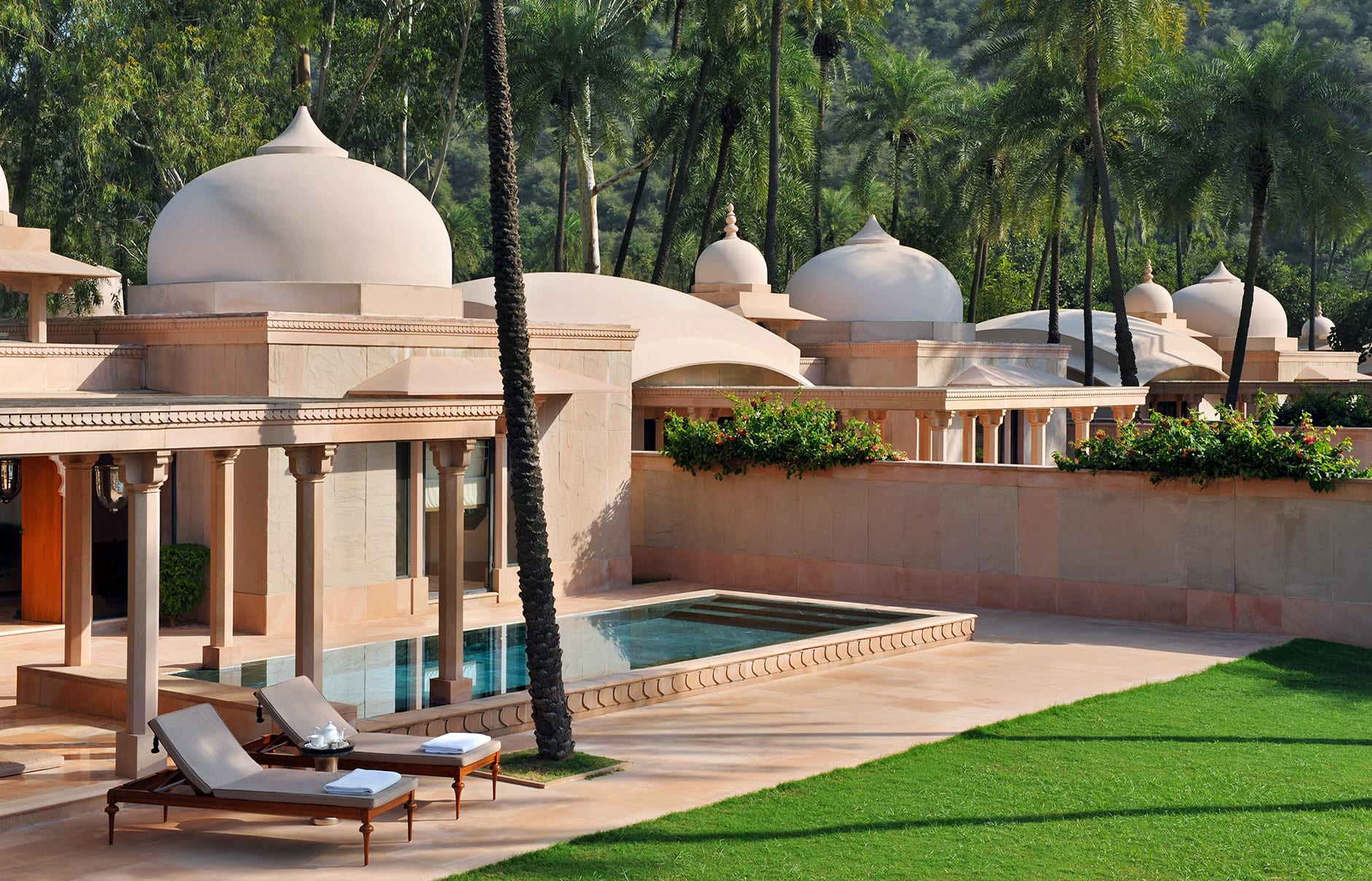 Pool Pavilion. Amanbagh, India. © Amanresorts