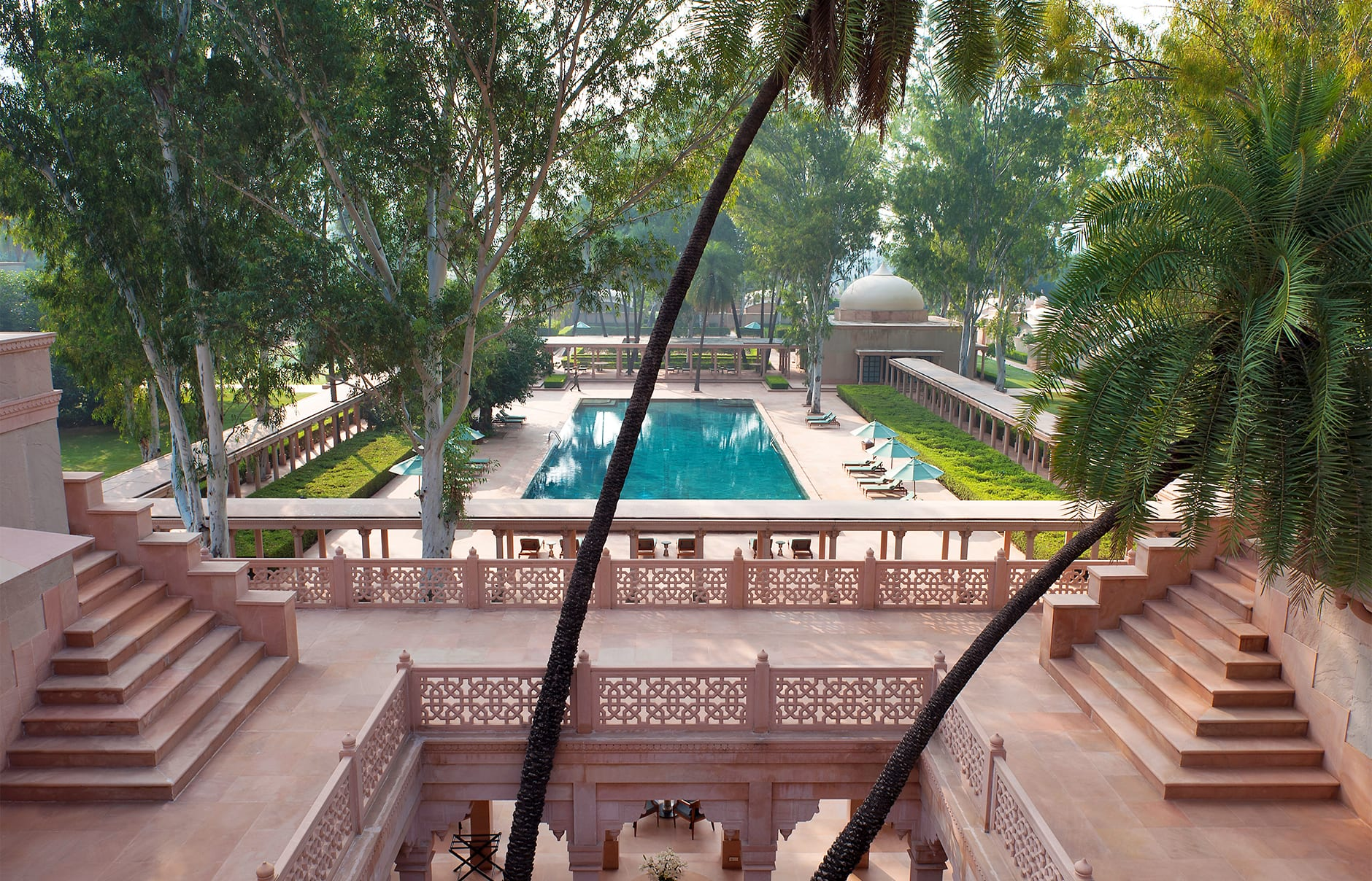 Roof Terrace. Amanbagh, Alwar, Rajasthan, India. Luxury Hotel Review by TravelPlusStyle. Photo © Aman Resorts