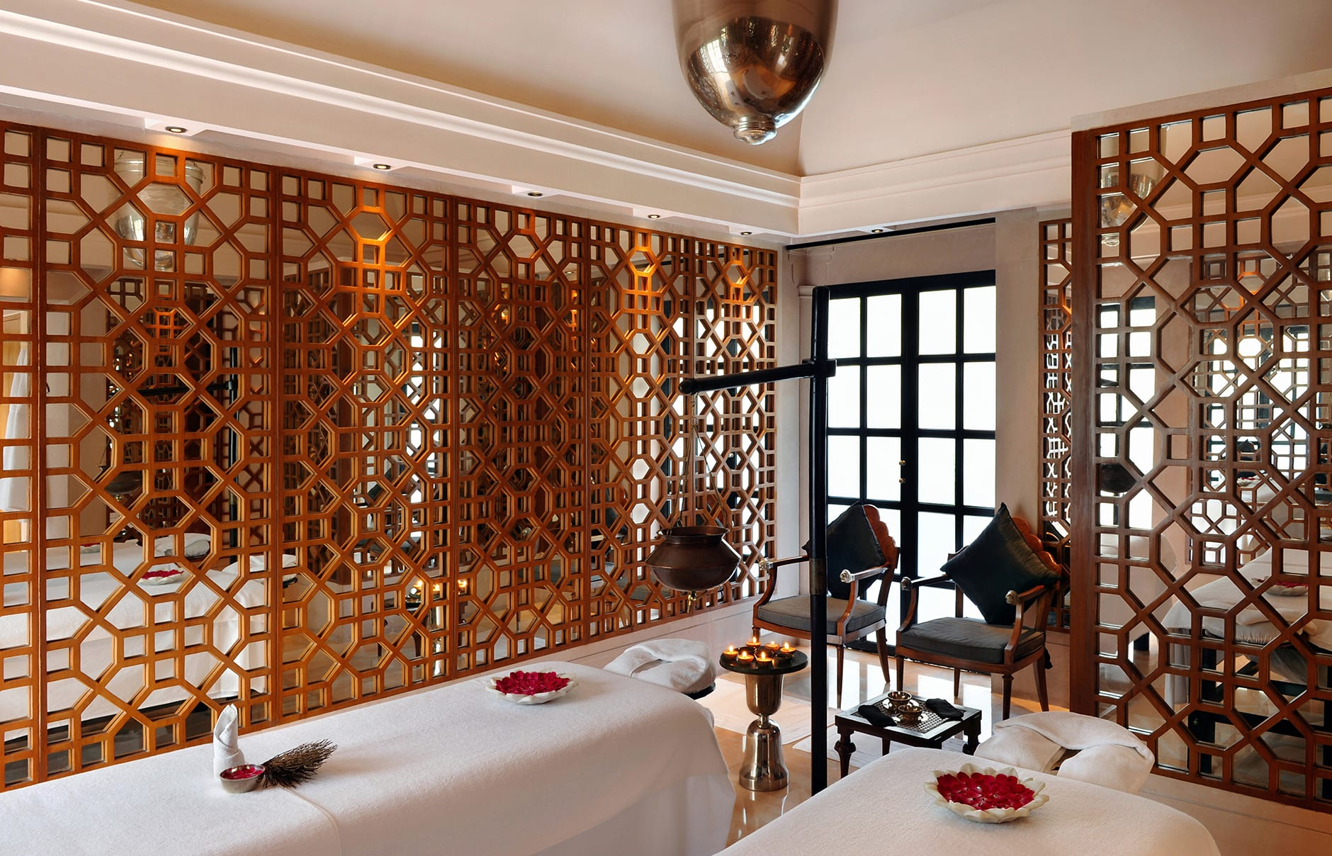 Spa Treatment Room. Amanbagh, Alwar, Rajasthan, India. Luxury Hotel Review by TravelPlusStyle. Photo © Aman Resorts
