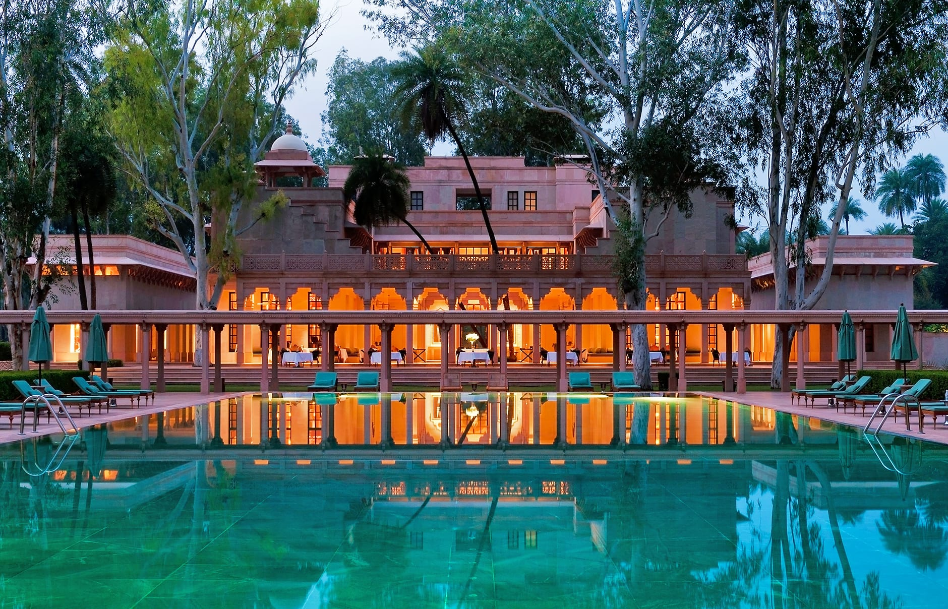 Swimming Pool. Amanbagh, Alwar, Rajasthan, India. Luxury Hotel Review by TravelPlusStyle. Photo © Aman Resorts