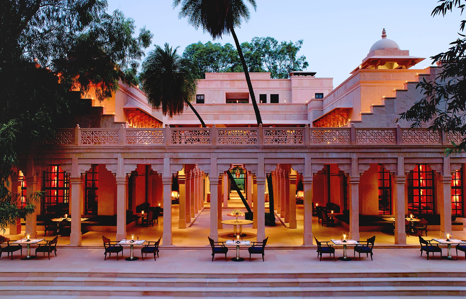 Terrace Dining. Amanbagh, India. © Amanresorts