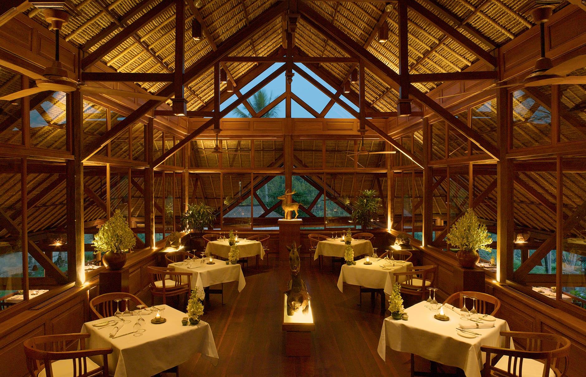 Restaurant. Amandari, Bali, Indonesia. © Amanresorts