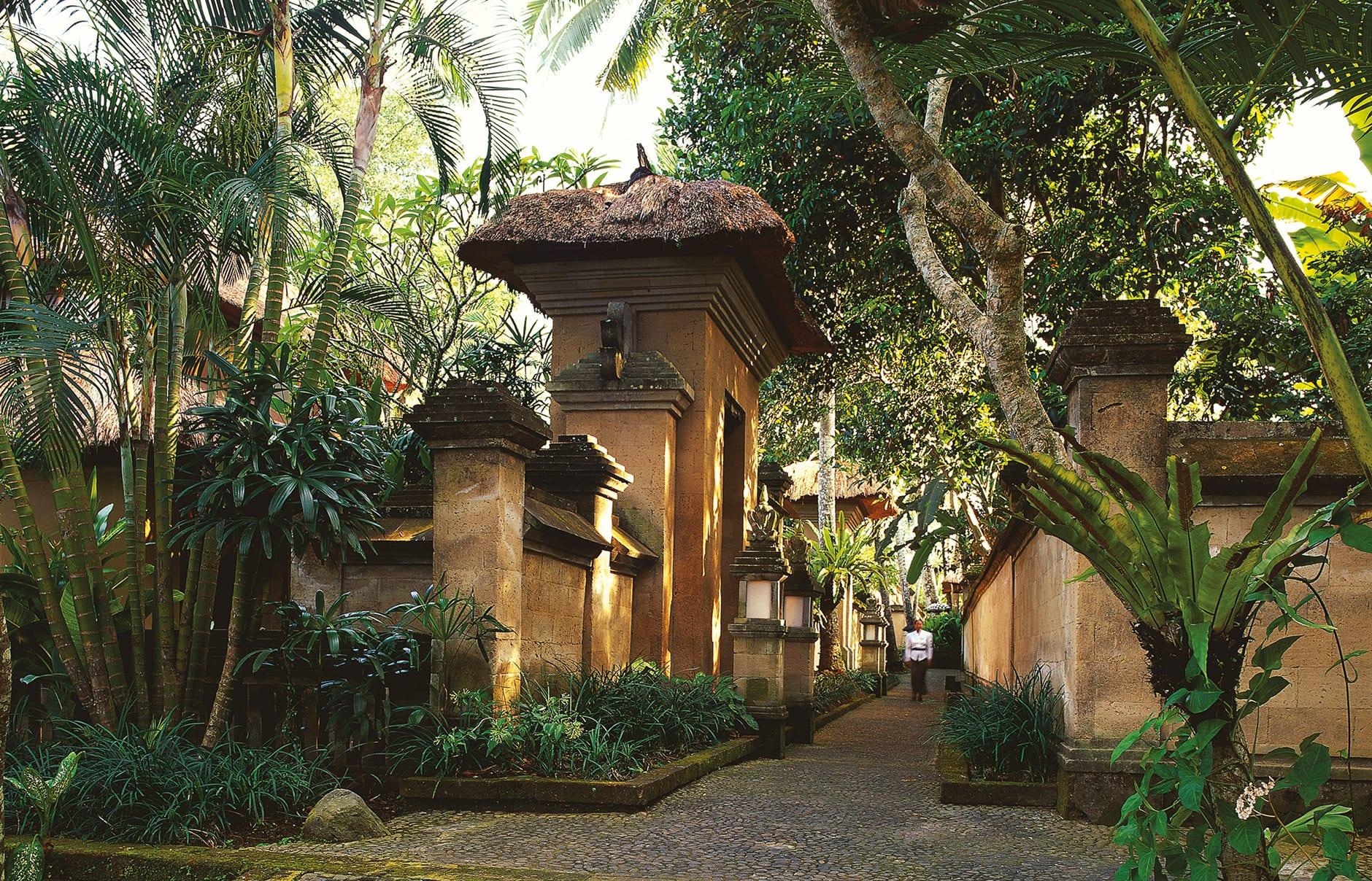 Paved Walkways. Amandari, Bali, Indonesia. © Amanresorts