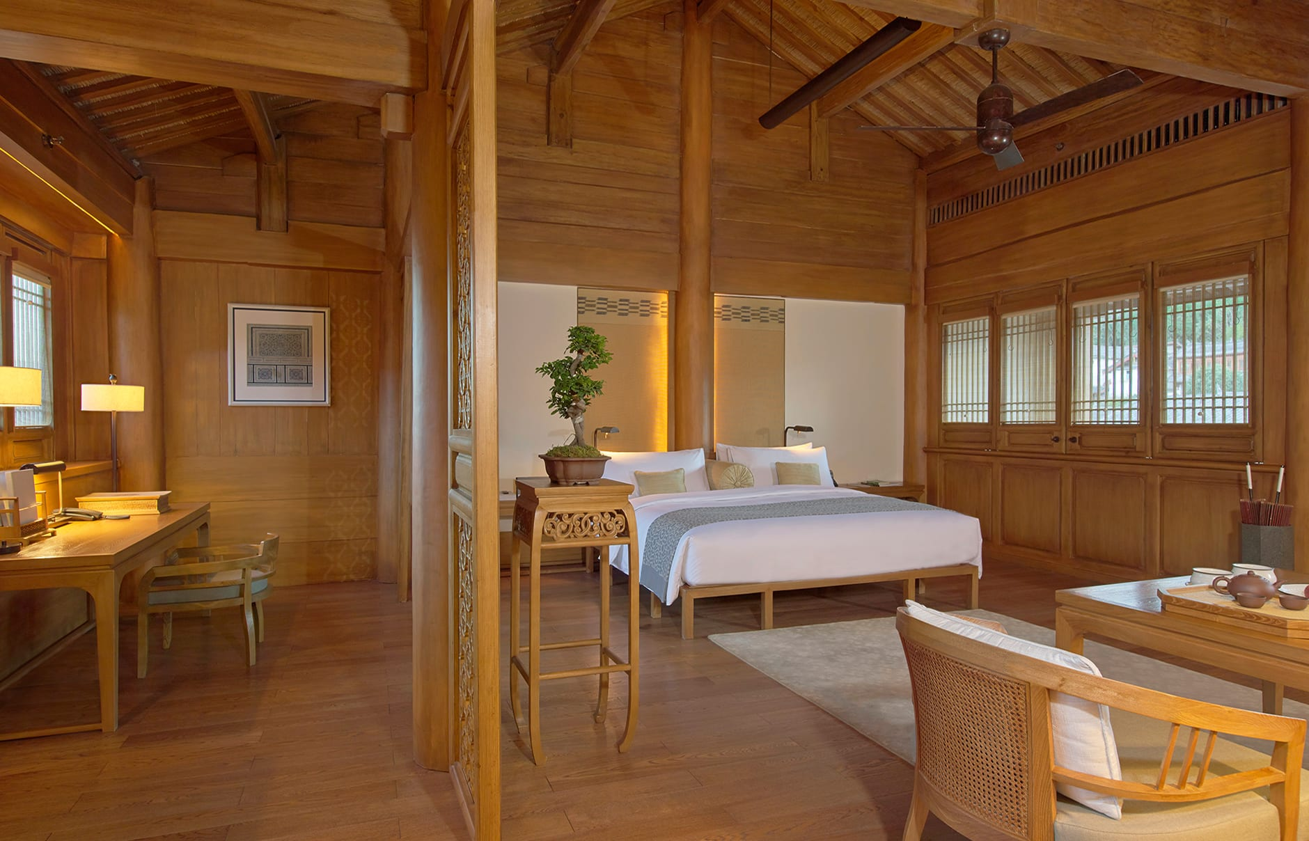 Amandayan - Suite. Amandayan, Lijiang, China. Luxury Hotel Review by TravelPlusStyle. Photo © Aman Resorts