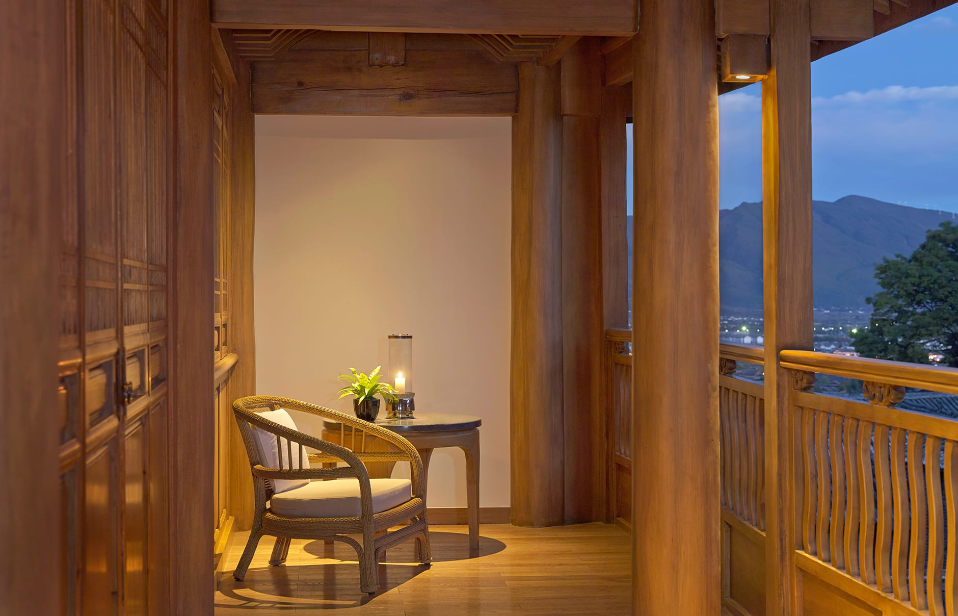 Amandayan - Suite Balcony. Amandayan, Lijiang, China. Luxury Hotel Review by TravelPlusStyle. Photo © Aman Resorts