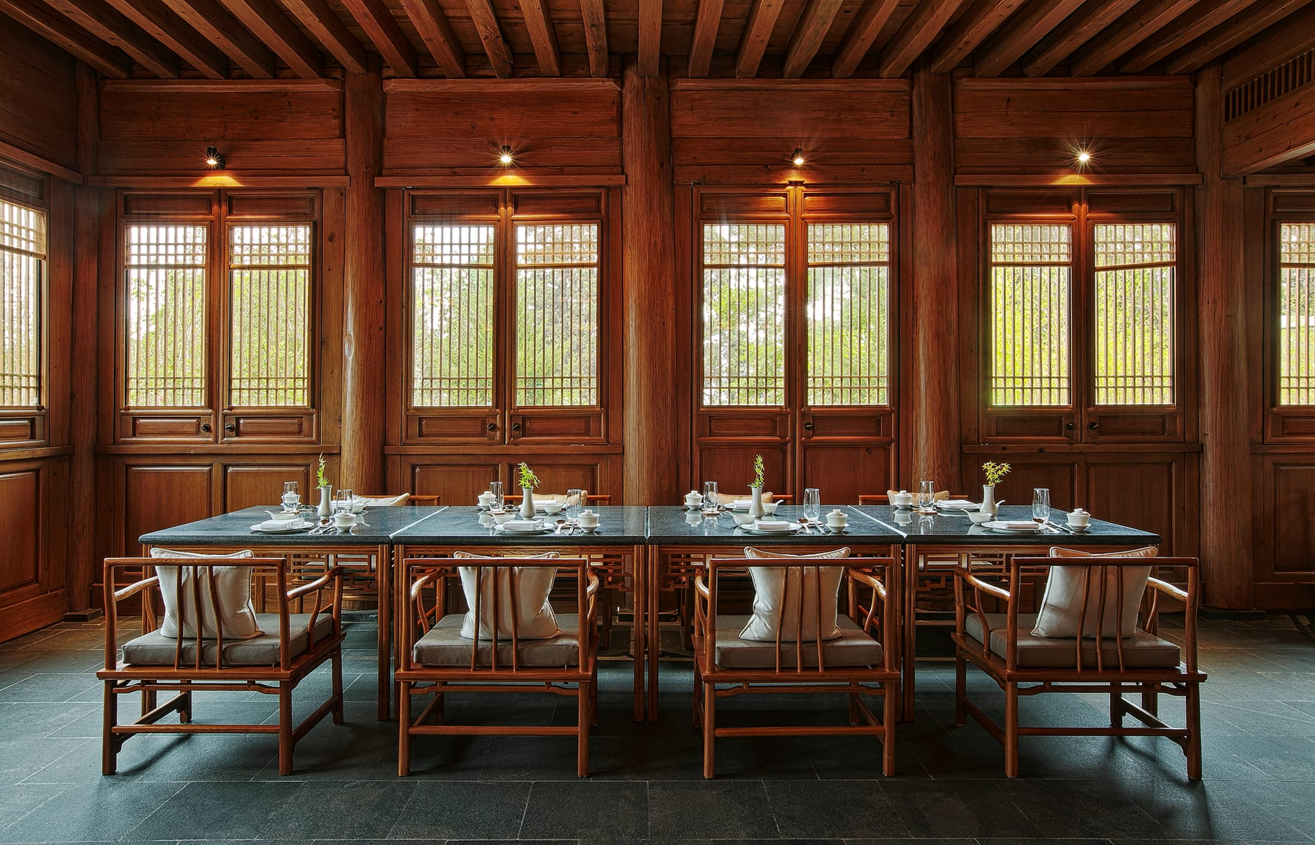 Amandayan - Chinese Restaurant. Amandayan, Lijiang, China. Luxury Hotel Review by TravelPlusStyle. Photo © Aman Resorts