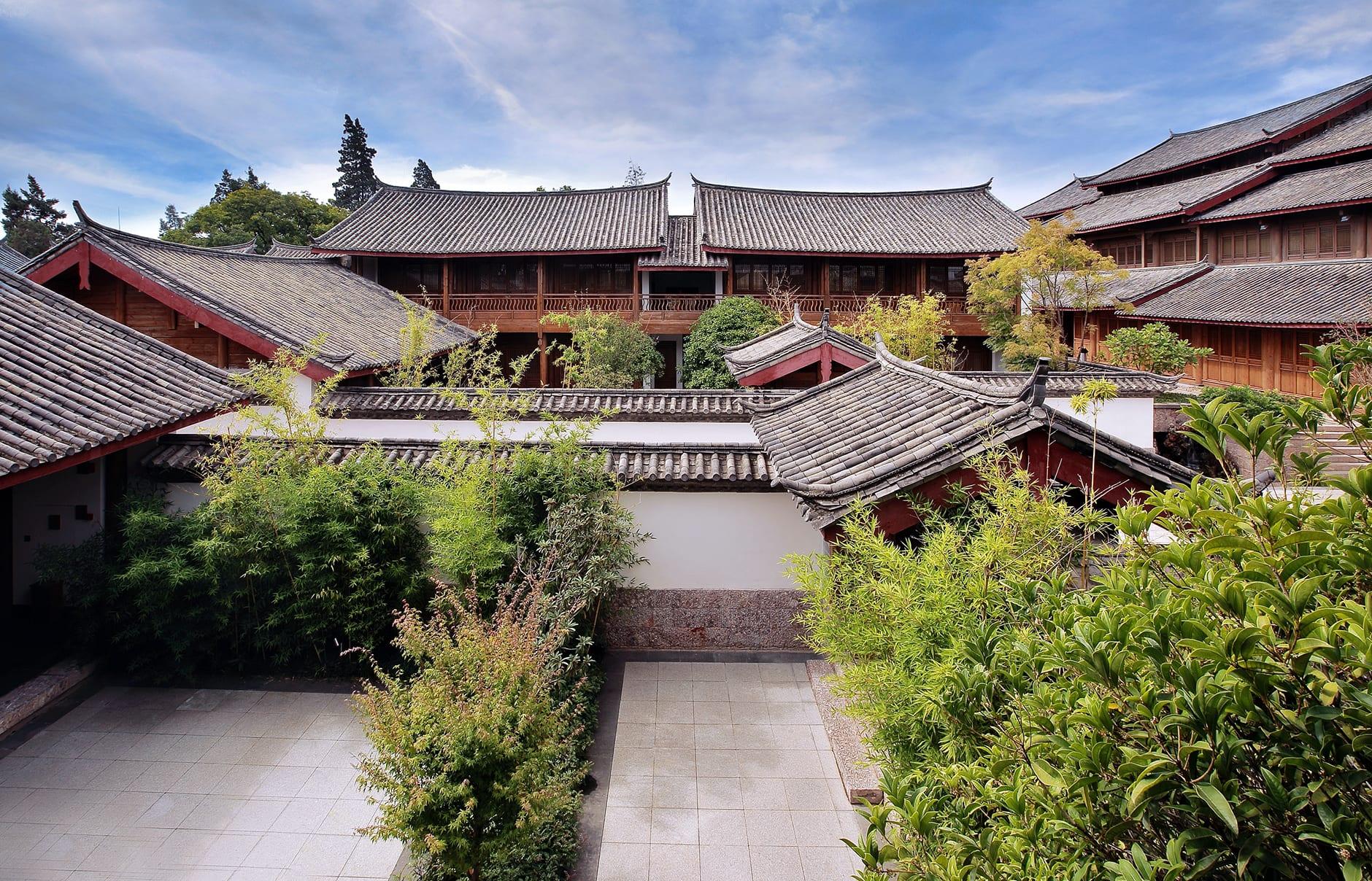 Amandayan - Courtyard. Amandayan, Lijiang, China. Luxury Hotel Review by TravelPlusStyle. Photo © Aman Resorts