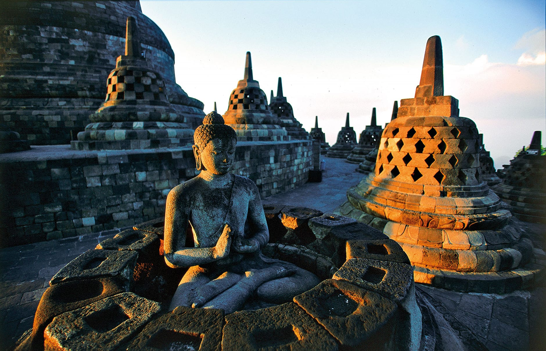 Borobudur Temple. Amanjiwo, Java, Indonesia. Luxury Hotel Review by TravelPlusStyle. Photo © Aman Resorts