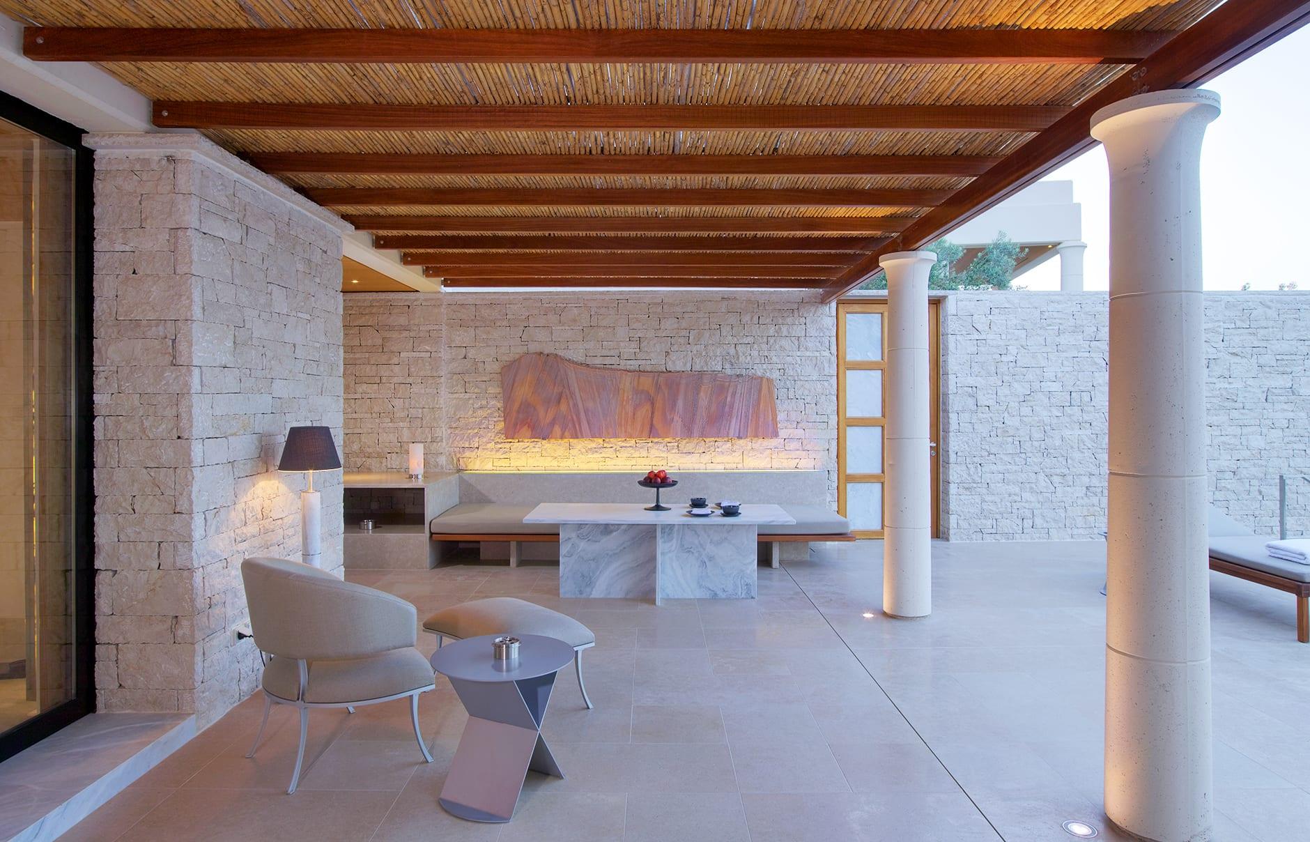 Amanzoe - Pavilion Terrace. © Amanresorts