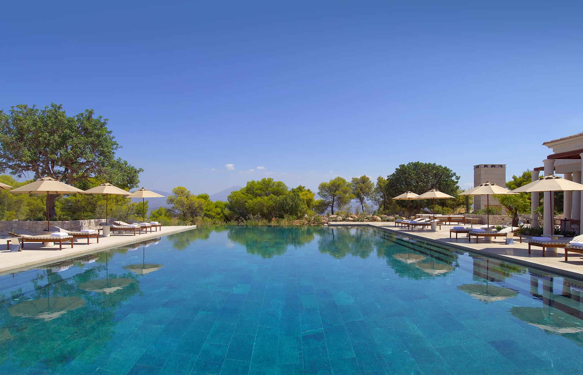 Amanzoe - Swimming Pool. © Amanresorts