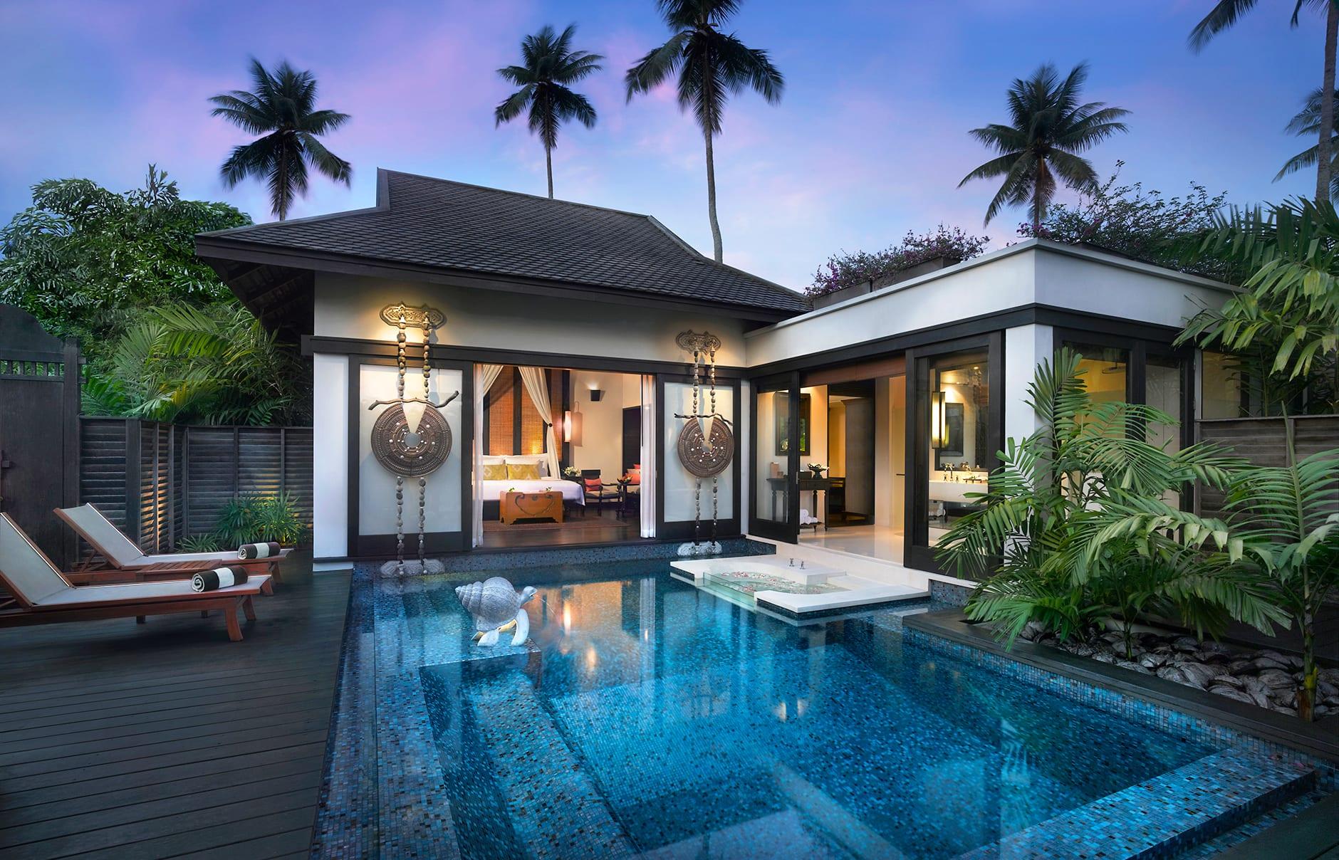 Pool Villa at night. Anantara Phuket Villas, Thailand. © Anantara Hotels, Resorts & Spa