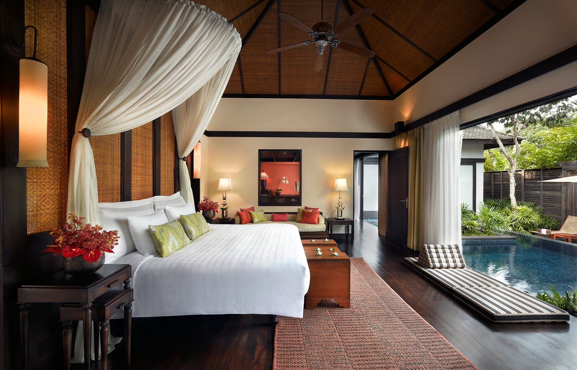 Two Bedroom Royal Villa master bedroom. Anantara Phuket Villas, Thailand. © Anantara Hotels, Resorts & Spa