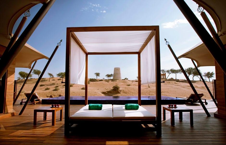 Al Khaimah Tented Pool Villa exterior © Banyan Tree Hotels & Resorts