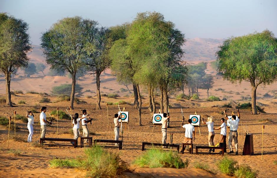 Group Archery. Banyan Tree Al Wadi © Banyan Tree Hotels & Resorts