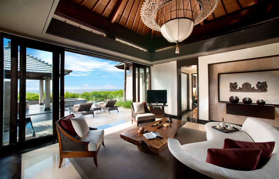 Pool Villa Sea View Living Room. Banyan Tree Ungasan. © Banyan Tree Hotels & Resorts