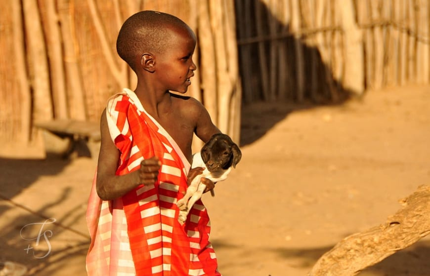 Maasai child in Shompole Conservancy. The Great Rift Valley, Kenya © Travel+Style