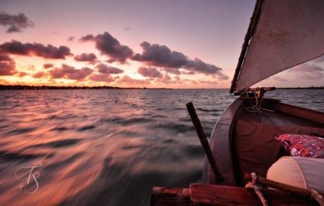 Sailing off Lamu island, Kenya © Travel+Style