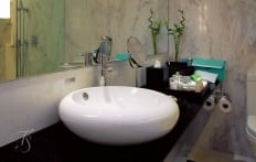 Bathroom. Naumi Hotel, Singapore. ©Travel+Style