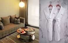 Deluxe Room Living Area. Naumi Hotel, Singapore. ©Travel+Style