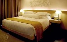 Bedroom. Naumi Hotel, Singapore. ©Travel+Style