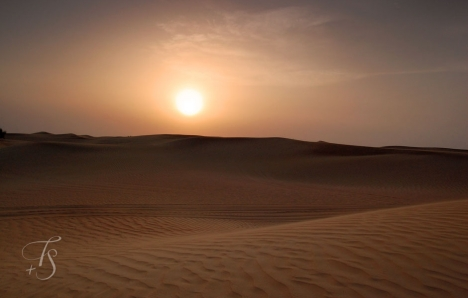 Sunset over the Dubai Desert © Travel+Style
