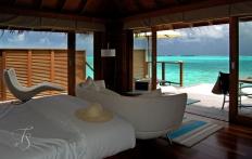 Superior Water Villa. © Travel+Style