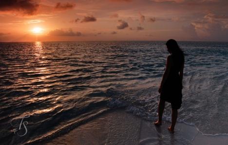 Sunset. Conrad Maldives Rangali Island. © Travel+Style