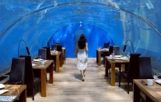 Ithaa Restaurant, Conrad Maldives Rangali Island. © Travel+Style