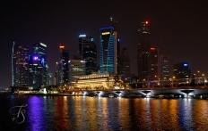 Singapore at night. © Travel+Style