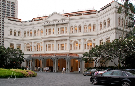 The world famous Raffles Hotel in Singapore. © Travel+Style