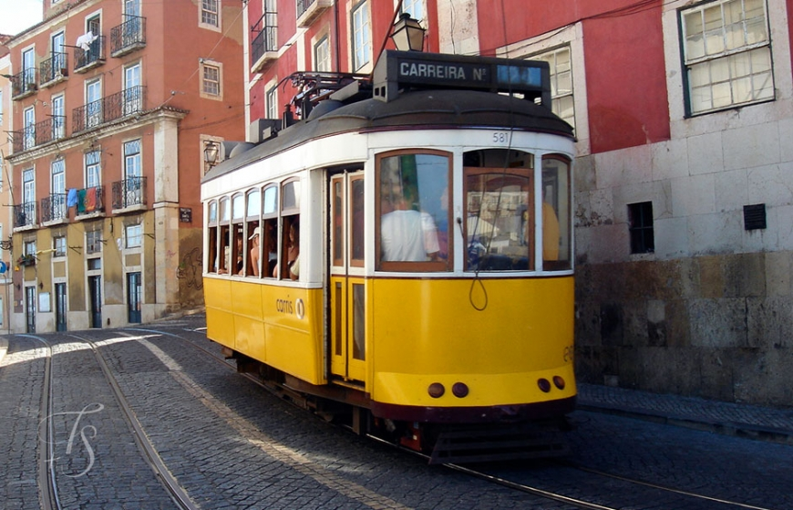 Electrico 28 Tram, Lisbon, Portugal © Travel+Style