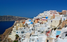 The town of Oia. Santorini, Greece. © Travel+Style