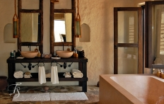 Bathroom. Six Senses Zighy Bay, Oman. © Travel+Style
