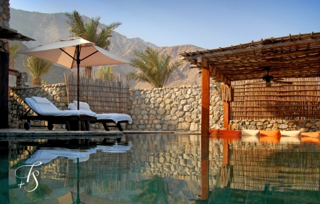 Pool Villa Suite. Six Senses Zighy Bay, Oman. © Travel+Style