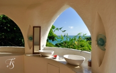Pavilion Bathroom. Kilindi Zanzibar. © Travel+Style