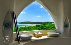 Bathroom. Kilindi Zanzibar. © Travel+Style