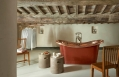 Copper Room - Bathroom. Hotel Monteverdi, Tuscany. © Monteverdi