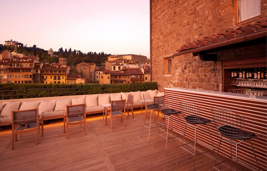 Boutique hotel continentale in florence unveils roof for Boutique hotel florence