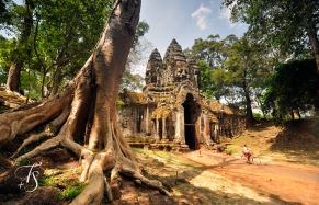 North Gate, Angkor Thom, Siem Reap. Cambodia. ©Travel+Style