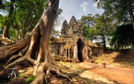 North Gate, Angkor Thom, Siem Reap. Cambodia. ©Travel+Style