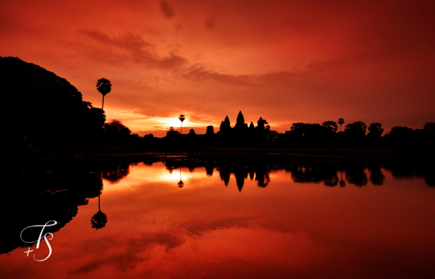 Sunrise at Angkor Wat, Cambodia. ©Travel+Style