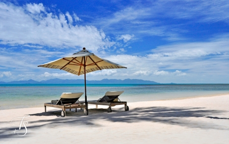 Quiet Beach, Four Seasons Resort Koh Samui. © Travel+Style