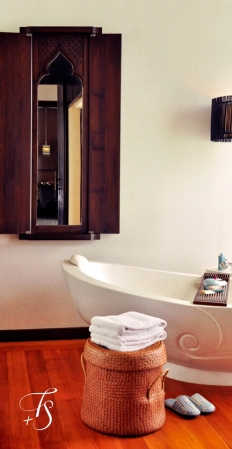 Villa Bathroom, Four Seasons Resort Koh Samui. © Travel+Style